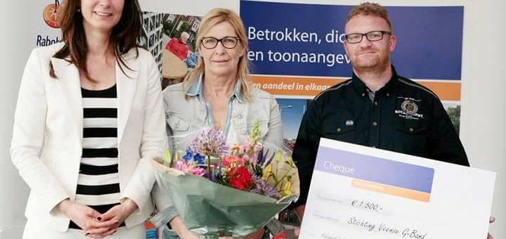 Financiele steun van de Rabobank Vallei en Rijn